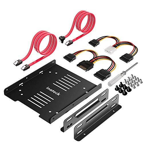 2.5 to 3.5 Adapter, Inateck SSD Mounting Bracket with SATA Cables and SATA Power Cable, ST1004