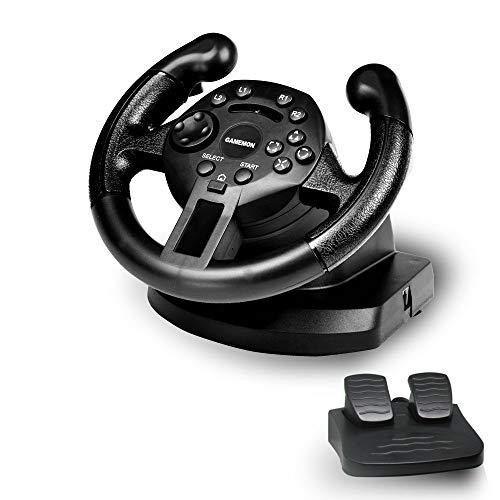 Gamemon Mini Dualshock Racing Wheel Compatible With Playstation3 Ps3/Pc Usb (D-Input&Amp;X-Input)