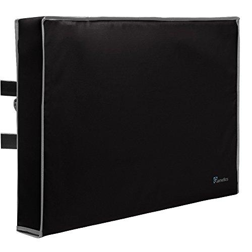 """Outdoor TV Cover 40"""", 42"""", 43"""" - Universal Weatherproof Protector for Flat Screen TVs - Fits Most TV Mounts and Stands - Black"""