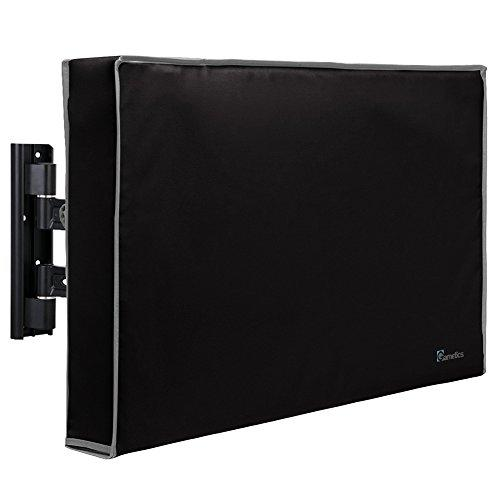"""Outdoor TV Cover 60""""-65"""" inch - Universal Weatherproof Protector for Flat Screen TVs - Fits Most TV Mounts and Stands - Black"""