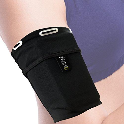 Universal Running Armband for All Phones (iPhone X/XR/XS/11/10/8/7/6/Plus/Max/Pro,Samsung Galaxy S10/S9/S8/Plus,LG,Sony & More). Sports Arm Case for Runners, Exercise and Gym Workouts. Small