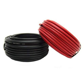 14 Gauge Red ; Black Power Ground Wire 25 FT Each 50' Total Stranded Copper Clad