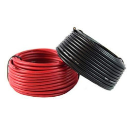 16 Gauge Red ; Black Power Ground Wire 25 FT Each 50' Total Stranded Copper Clad