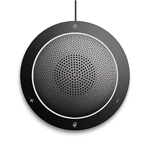 Kaysuda USB Speaker Phone 360° Omnidirectional Microphone Portable Conference Speakerphone Echo Cancellation for Skype Business of Microsoft Lync, VoIP Calls, Webinar, Phone, Call Center, Recording