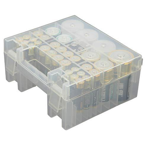 Whizzotech Battery Organizer Storage Case For Aa Aaa C D 9V Battery Holder Box