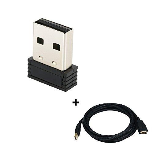 USB ANT+ Stick an Adapter for Zwift, Garmin, Suunto, TacX, Bkool, PerfPRO Studio, CycleOps, TrainerRoad to Upgrade Bike Trainer (with 3 Meters Extension Cable)