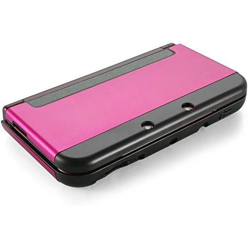 Tnp New 3Ds Case (Hot Pink) - Plastic + Aluminium Full Body Protective Snap-On Hard Shell Skin Case Cover For New Nintendo 3Ds 2015 - [New Modified Hinge-Less Design]