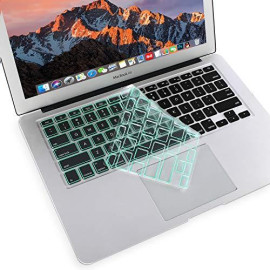 MOSISO Ultra Thin Keyboard Cover Protector Soft TPU Skin Compatible with MacBook Pro 13/15 inch (with/Without Retina Display, 2015 or Older Version) MacBook Air 13 inch(Release 2010-2017), Mint Green