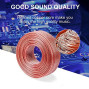Choseal 20AWG 2-Conductor Speaker Wire,Oxygen Free Copper Cable Compatible Home Theater, in-Wall Use,Computer and Car 30 Feet