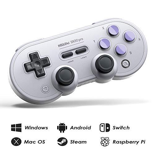 Runsnail 8Bitdo Sn30 Pro Wireless Bluetooth Controller With Joysticks Rumble Vibration Usb-C Cable Gamepad For Windows, Mac Os, Android, Steam, Etc, Compatible With Nintendo Switch