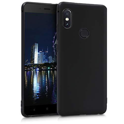 Kwmobile Tpu Silicone Case For Xiaomi Redmi Note 5 (Global Version) / Note 5 Pro - Soft Flexible Shock Absorbent Protective Phone Cover - Black Matte