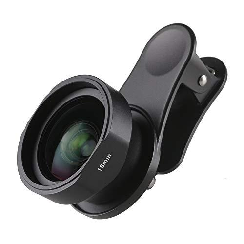 Sirui 18-Wa Wide Angle Lens 18Mm With Clip, Constructed With German Schott Glass And Aluminum Housing, For Most Smartphones
