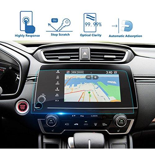Lfotpp 2017 2018 2019 Crv Ex Ex-L Touring 7-Inch Car Navigation Screen Protector, Clear Tempered Glass Infotainment Display In-Dash Center Touch Screen Protector