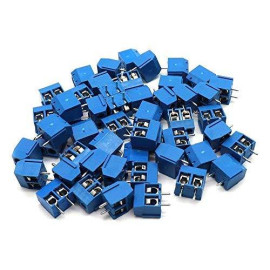 Yootop 50Pcs 2 Pin 5mm/0.2'' Pitch PCB Mount Screw Terminal Block Connector for Arduino