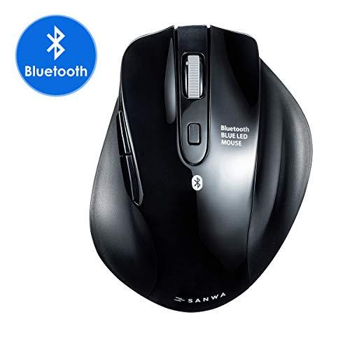 Sanwa (Japan Brand) Bluetooth Vertical Ergonomic Mouse, Silent Noiseless Blue Led Optical Computer Mice, (800/1200/1600/2400 Dpi, 6 Buttons) Compatible With Macbook, Laptop, Windows Android Mac Os