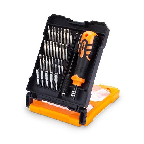 33 in 1 Magnetic Screwdriver Set Electronic Repair Tool Kit Screwdriver Tool Kit with Flexible Shaft for PC, MacBook, Laptop, Xbox, PS4.