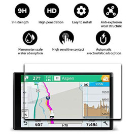 Yee Pin Gps System Accessories Navigation Display Tempered Glass Screen Protector For Drivesmart 61 Lmt 6.95 Inch Touch Screen Protector Anti-Explosion High Definition