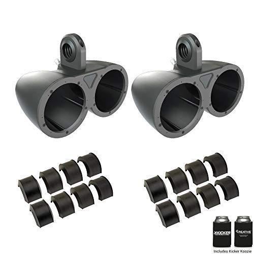 """Kicker KMTED Dual 6.5"""" Empty Wake Tower/Roll Bar Enclosures with KMTAP Adapter Pack for UTVs"""