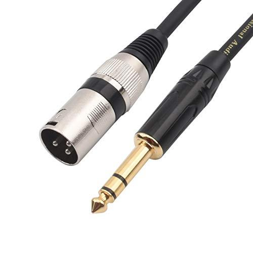 Tisino 1/4 Inch Trs To Xlr Male Balanced Signal Interconnect Cable Quarter Inch To Xlr Patch Cable - 3.3 Feet