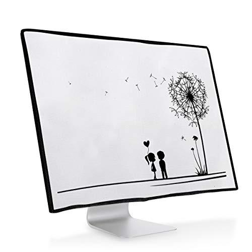 """kwmobile Monitor Cover for Apple iMac 21.5"""" - Dust Cover PC Monitor Case Screen Display Protector - Black/White"""