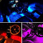 Adecorty Car LED Strip Light, 4pcs 72 LED Multicolor Music Car Interior Atmosphere Lights, USB LED Strip for Car TV Home with Sound Active Function, Wireless Remote Control and Smart USB Port