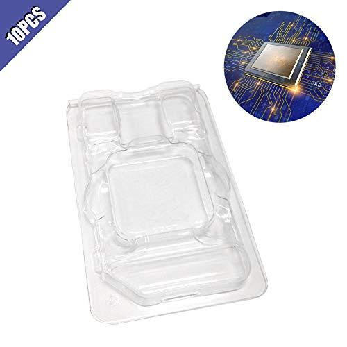 Ximimark 10Pcs Computer CPU Clamshell Tray Box Case Holder Protection Clamshell Container for AMD 938 940 AM2 AM3 FM1