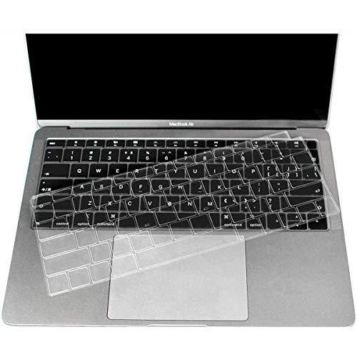 CaseBuy Premium Ultra Thin Keyboard Cover Compatible Newest MacBook Air 13 Inch 2019 2018 Release A1932 with Retina Display Soft-Touch TPU Keyboard Protective Skin