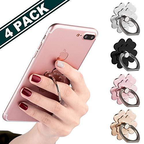 Phone Ring Stand [4 Pack] - Jchien Universal Phone Finger Ring Grip Stand Holder Compatible With Iphone Xs Max Xr X 8 7 6 6S Plus, Samsung Galaxy S9 S8 Plus S7 S6 &Amp; Other Smartphones