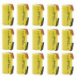 BAOBIAN 15 Pcs SubC Sub C 2000mAh 1.2V Ni-CD Rechargeable Battery Cell with Tabs for Power Tools Solder Tabs
