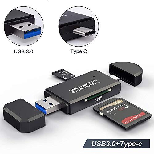 USB Type C SD Card Reader,USB 3.0 SD Card Reader OTG Adapter for SDXC, SDHC, SD, MMC, RS- MMC, Micro SDXC, Micro SD, Micro SDHC Card and UHS-I Cards