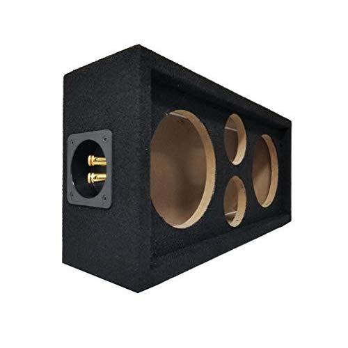 Bass Rockers Chuchero Boxed for Voice Speakers and Tweeters - Car Aduio Installations (BRCH6, Black)