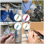 Kuject 255PCS Heat Shrink Wire Connectors, Waterproof Electrical Crimp Wire Terminals, Include Ring Terminals, Spade Connectors, Forks, Quick Disconnect Terminals for Automotive, Marine