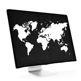 """kwmobile Monitor Cover for Apple iMac 27"""" / iMac Pro 27"""" - Dust Cover PC Monitor Case Screen Display Protector - White/Black"""