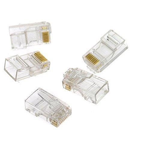 Tcplyn Rj12 6P6C Network Modular Plastic Ethernet Cord Wire Adapter Connector For Ribbon Cable 20 Pcs