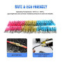 Nilight 250 PCS Heat Shrink Spade Connectors Quick Disconnect Wire Connectors Electrical Spade Terminals Heat Shrink Fully Insulated Male and Female Wire Spade Connectors,2 Years Warranty