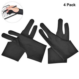 OTraki 4 Pack Artist Gloves for Drawing Tablet Free-Size Artist's Drawing Glove with Two Fingers for Graphics Pad Painting Good for Right Hand or Left Hand