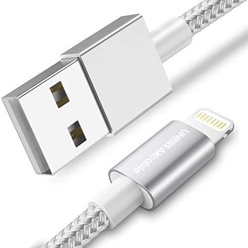 Unbreakcable Iphone Charger Cable - [Apple Mfi Certified] 6.6Ft/2M Nylon Braided Apple Charger Lead Usb Fast Charging Lightning Cable For Iphone 11/11 Pro/11 Pro Max/X/Xs/Xr/Xs Max/8/7/6S/6 Plus, Ipad