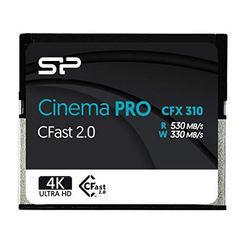 Silicon Power 512GB CFast 2.0 CinemaPro CFX310 Memory Card, 3500X and up to 530MB/s Read, MLC, for Blackmagic URSA Mini, Canon XC10/1D X Mark II and More - SP512GICFX311NV0BM
