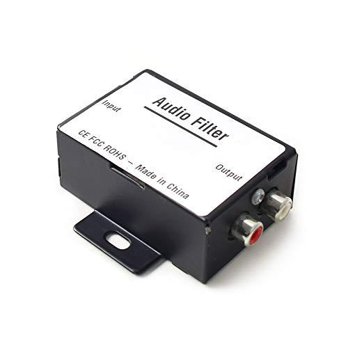 Car Audio Noise Isolator Filter Radio Noise Eliminator for Auto Truck Boat Speakers Amplifier Equalizer RCA Signal