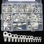 120 Pcs Assorted Heavy Duty Wire Lugs Battery Cable Tinned Copper Eyelets Tubular SC Ring Terminals Connectors with Spy Hole Assortment Kit