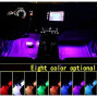 Car LED Strip Light, Uniwit 4 Pcs Multicolor Music Car Interior Atmosphere USB Lights for Car TV Home with Sound Active Function, Wireless Remote Control and Smart USB Port (8.85 Inch - 48 LED)