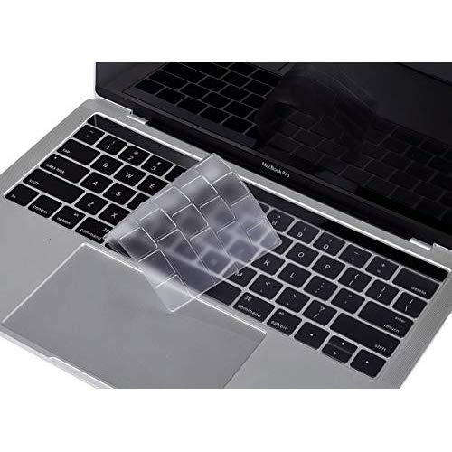"""Premium Ultra Thin Keyboard Cover Skin for MacBook Pro with Touch Bar 13"""" and 15"""" (Apple Model Number A2159 A1706 A1707 A1989 A1990, 2019 2018 2017 2016 Release), US Keyboard Layout"""