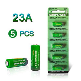 SURPOWER A23 12v Battery 23A 23AE-5 Pack