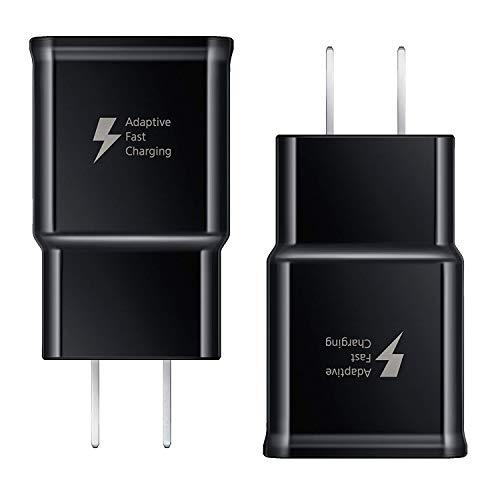 Samsung Galaxy Fast Charger, Adaptive Fast Charging Wall Charger Plug Compatible Samsung Galaxy S10 S10+ Plus S9 S9 Plus S8 S8 Plus Note 10 Note 9 Note 8 S7 S6 Edge, Fast Charger For Samsung [2 Pack]