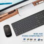 Wireless Keyboard and Mouse Combo,FENIFOX Dual System Switching Double Ergonomic Full-Size USB Whisper-Quiet Compatible with PC Desktop Computer macOS Windows -Black