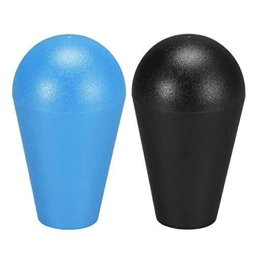 Uxcell Ellipse Oval Joystick Head Rocker Ball Top Handle American Type Arcade Game Diy Parts Replacement Blue Black 2Pcs