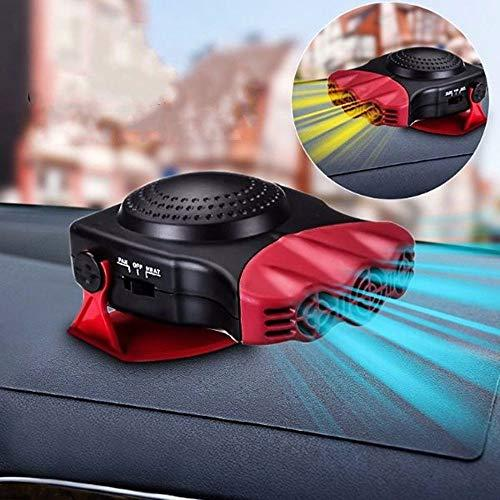 Car Heater - MASO 2 in 1 Portable 12V 150W High Power Fast Heating ; Cooling Fan Defrost Defogger ,for Automobile Windscreen (Red)