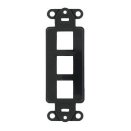3 Hole Blank Decora Plate Black