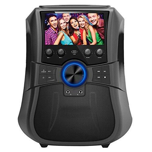 Portable Karaoke System With Lcd Display