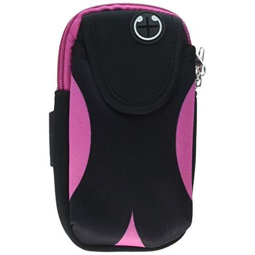 Universal Convenient Pouch With Adjustable Sports Armband - Black & Pink-Arip7L-Cvn-Bkpk